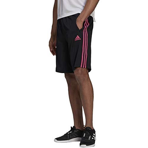 adidas Mens Designed 2 Move 3-Stripes Shorts Black/Pink Medium