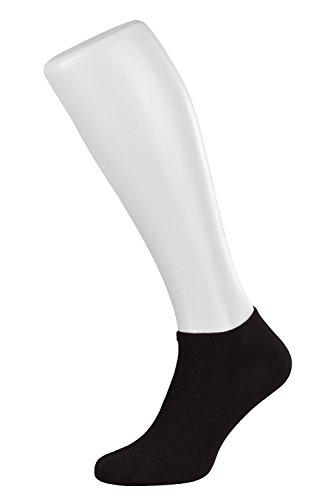 Tobeni 10 Paar Damen Sneaker Socken Sneakers Füsslinge in Baumwolle Farbe Schwarz Grösse 35-38