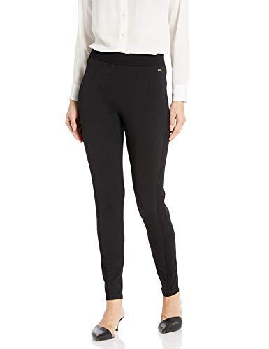 Armani Exchange A|X Damen Form Fitting Long Black Leggings, schwarz, X-Groß