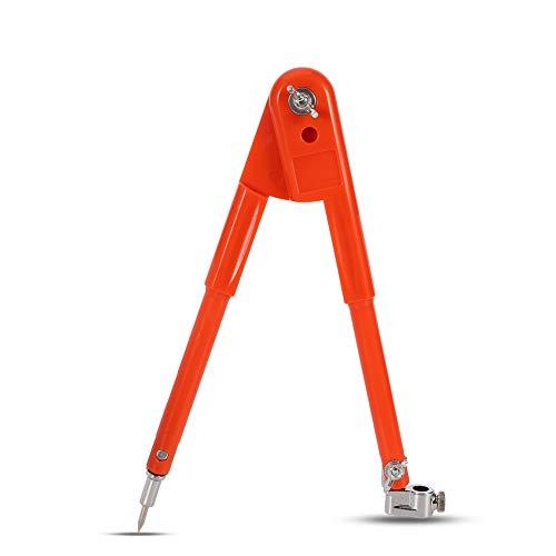 Veraing Präzisions-Bleistift-Kompass für Holzarbeiten Verstellbarer Tischlerer Großem Durchmesser Trenner Markieren und Kritzen von Holzbearbeitung für Zimmermänner(25 * 90cm)