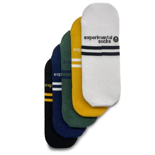 ExperimentalSocks - Calcetines Cortos Tobilleros Hombre Mujer 5 Pares (Multicolor)