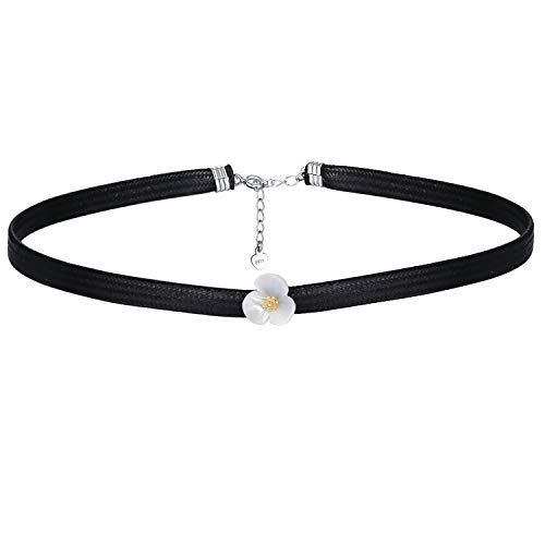 RED TREE Choker Necklace, 1 of Black Charm Choker Wax Rope Choker Necklaces for Women Girls (# Style 7)