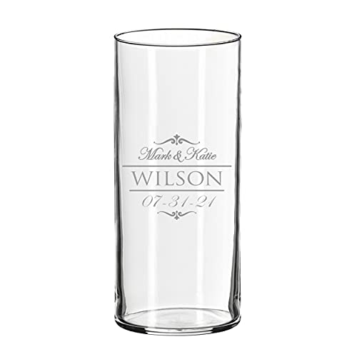 Personalized Glass Flower Vase