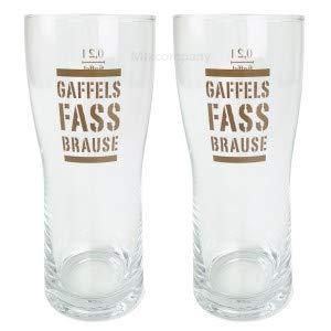 Gaffels Fassbrause Glas Gläser Set - 2X Gläser 0,2l geeicht