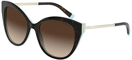 Tiffany Occhiali da Sole T TF 4166 HAVANA TURQUOISE/BROWN SHADED 55/18/140 donna