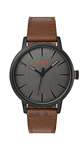 Hugo Boss Orange Herren-Armbanduhr Quarz mit Leder Armband 1550054