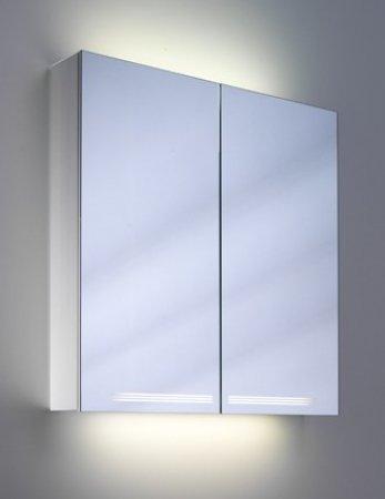 Graceline 100cm Spiegelschrank 2 Türen mit Beleuchtung