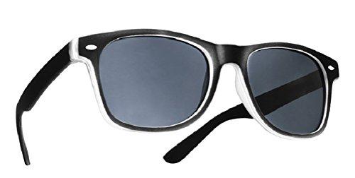 4sold Damen Herren Lesebrille Sonnenbrille +1.5 +2.0 +3.0 +4.0 Sun Readers Federn-Scharnier Perfekt für den Urlaub Retro Vintage Brille (Black, 2.00)