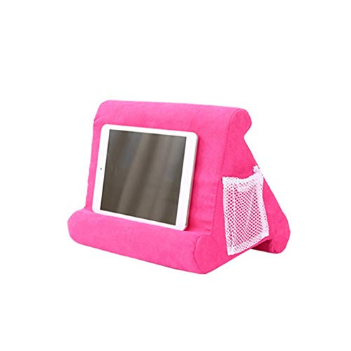 NVFED Laptop Holder Tablet Pillow Foam Lapdesk Multifunction Laptop Cooling Pad Tablet Stand Holder Stand Lap Rest Cushion for Ipad (Color : Pink)