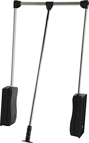 Hafele Pull Down Closet Rod, Heavy duty 33 lbs Load Capacity (Chrome-plated)