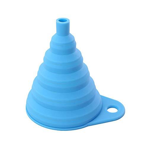 JOJYO Trichter,Faltbarer SilikonTrichter für Küche, Haushalt und Auto Hochwertiger Küchenhelfer zum Aufhängen oder Verstauen in der Schublade 1 Stück