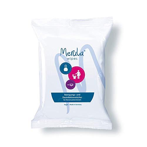Merula Wipes - Reinigungs- und Desinfektiontücher für Menstruationstassen, 20 Tücher