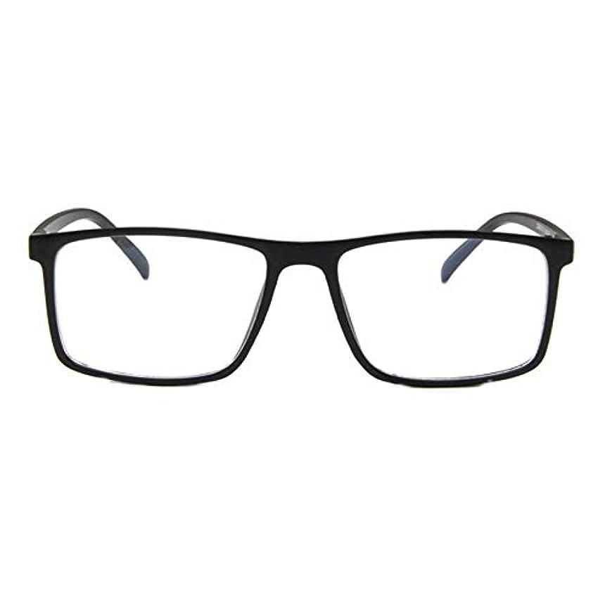 売り手カジュアル公平なレトロフラットメガネファッション人格眼鏡フレーム近視眼鏡韓国ファッション学生眼鏡フレーム-マットブラック