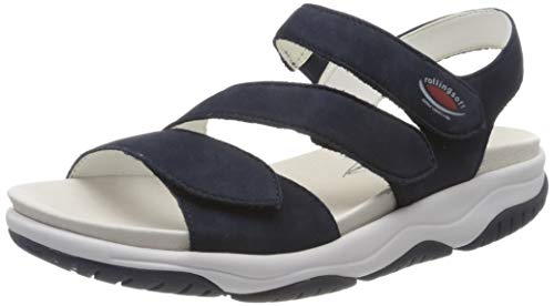 Gabor Shoes Damen Rollingsoft Riemchensandalen, Blau (Blue 36), 38 EU