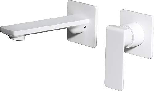 Grifo de lavabo empotrado Imex Fiyi Blanco GLF016-BL