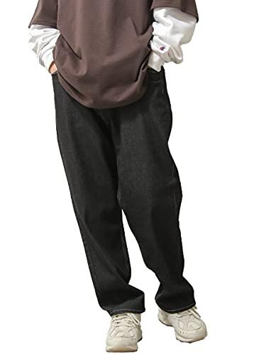 [ ジップファイブ ] ZIP FIVE バルーンパンツ メンズ ストレッチ バルーン バギーパンツ デニム ワイドパンツ es1802 9BLACKDENIM XL