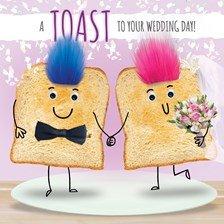 Hochzeits-Grußkarte mit Aufschrift