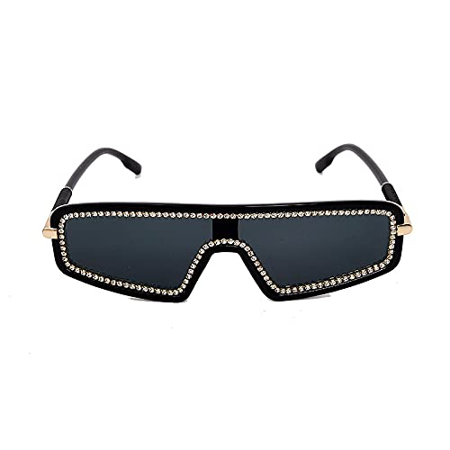 HAOMAO Gafas de sol de diamantes de imitación fotocromáticas de gran tamaño...