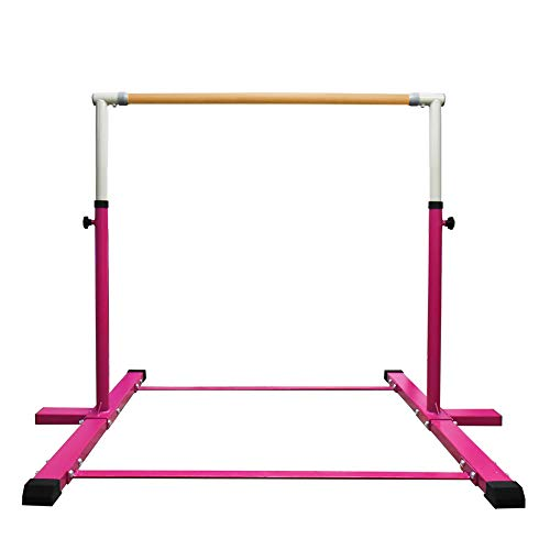 JC-ATHLETICS Gymnastic Kip Bar,Horizontal Bar for Kids Girls Junior,3' to 5' Adjustable Height,Home...