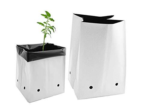 Viagrow V724402-50 V7244 Grow Bags, 2 Gallon 50 Pack, White