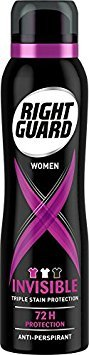 Right Guard Womens Deodorant, Xtreme Invisible 72H High-Performance...
