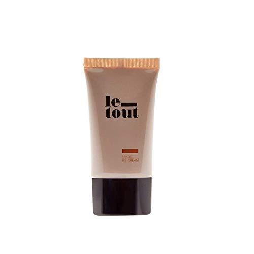 BB Cream Tono Oscuro, Le Tout Magic BB Cream Dark - Crema Hidratante, Base para la Cara, Vegana, con Protección Solar SPF 30, Sin Parabenos
