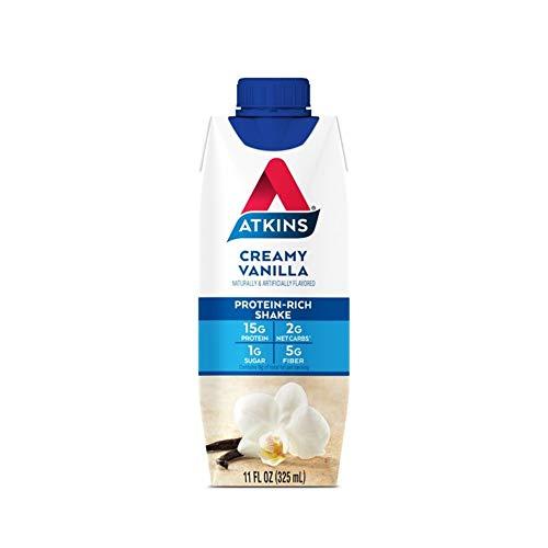 Atkins Gluten Free Protein-Rich Shake, Creamy Vanilla, Keto Friendly, 8 Count (Pack of 1) 7