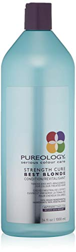 Price comparison product image Pureology Strength Cure Best Blonde Purple Conditioner,  Restore & Tone ,  33.8 oz