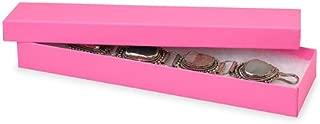 Eco Tone Jewelry Boxes - 8x2x7/8 Calypso Pink Eco Tone Jewelry Boxes (100 Boxes) - WRAPS-43CP
