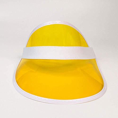 SEESEE.U Anti-UV été Femmes Hommes Chapeau de Soleil Couleur Transparent Vide Haut écran Solaire Chapeau visière Casquettes vélo Pare-Soleil Chapeau Sport, A05,55-60cm