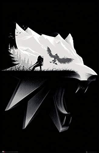 Theissen Witcher Open World Poster Matte Poster 11 x 17 pouces (28 x 43 cm) *IT-00257