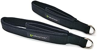 Balanced Body Pilates Double Loops Pair Set, Strap with Loops, Feet Fitness Equipment Straps Cuffs, Reformer Straps