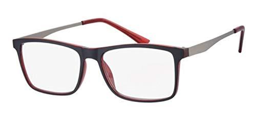 Fitsch Online UG Moderne leesbril voor heren +2,5 model 1 metalen beugel leeshulp kant-en-klaar bril