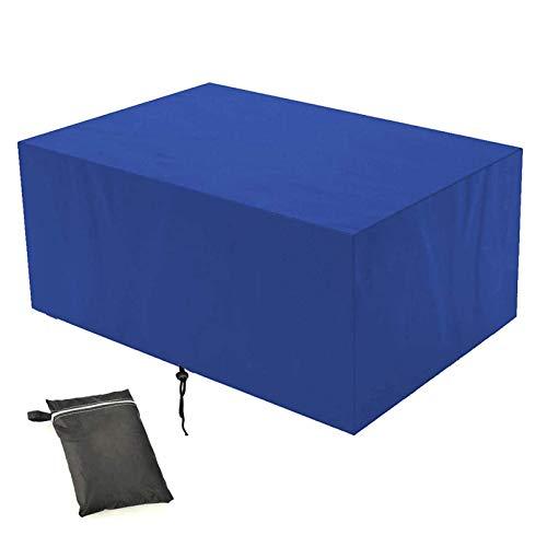 Fenfatuqiang Funda plastico Sofa Exterior, Funda Protectoras Muebles Jardin, Resistente al Desgarro, para Mesa de Comedor Cubierta de Mesa de jardín - Azul, 220x220x85cm(LxWxH)