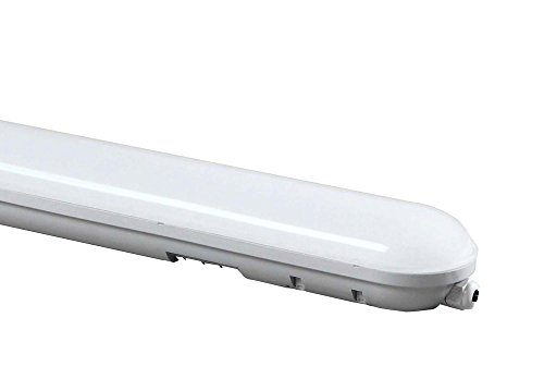 LYO Pantalla Estanca con LED Integrado, 36 W, Blanco, 114.5 x 7.5 cm