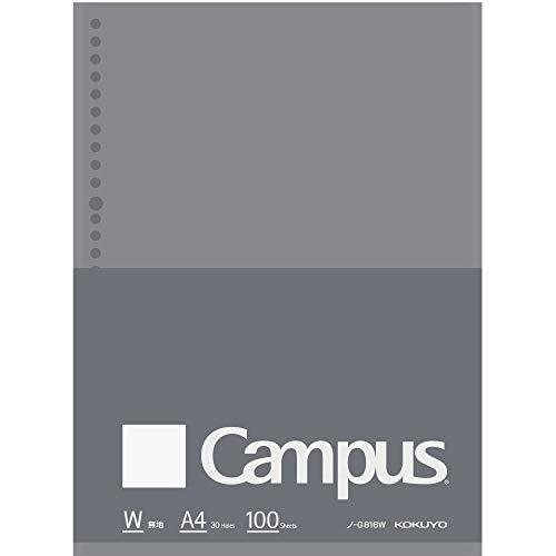 コクヨ キャンパス ルーズリーフBiz A4 無地 100枚 ノ-G816W 【まとめ買い5冊セット】