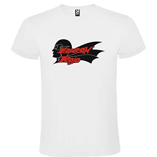 ROLY Camiseta Blanca con Logotipo de Baron Rojo Hombre 100%