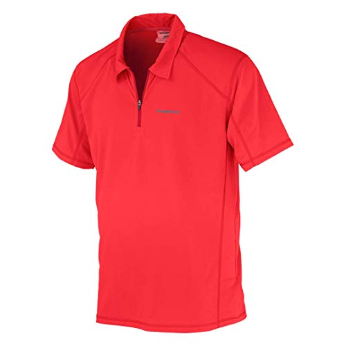 Trango Mandel Polo Homme, Rouge, FR : S (Taille Fabricant : S)