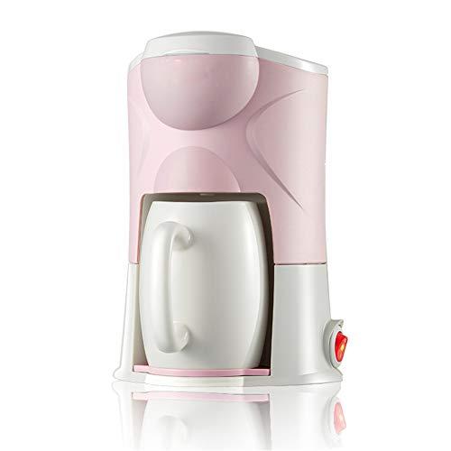 Hebry Kaffeemaschine Vollautomat, Mini Coffee Machine Gift Haushalt Tragbare Teemaschine Keramik Tasse Kleinen Filterkaffee, pink