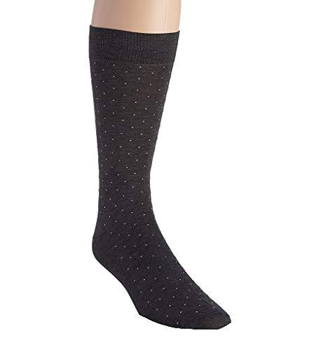 Pantherella Lisle-Socken für Herren, traditionelles Pindot-Design, Baumwolle, 1 Paar - - Medium