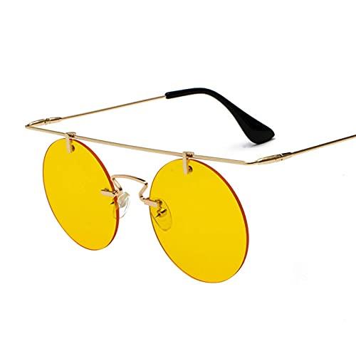 Gafas de sol retro Gafas redondas Personalidad inigualda Personalidad Ligero Menores y mujeres Trend Gafas de sol Deportes al aire libre (Color : G)