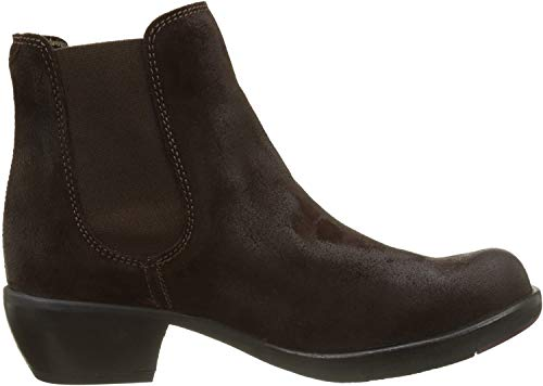 FLY London Damen MAKE Chelsea Boots Stiefel, Braun (Expresso 027), 41 EU