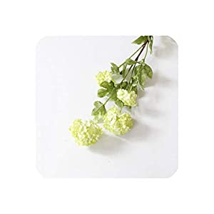 4 Heads 85Cm Snowball Hydrangea Artificial Silk Flowers Wedding Christmas Living Room Decoration with Artificial Leaves