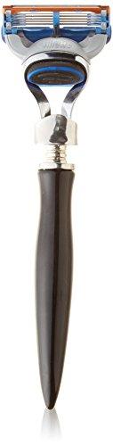 eShave 5 Blade Razor  In Black - Nickel / Black Handle