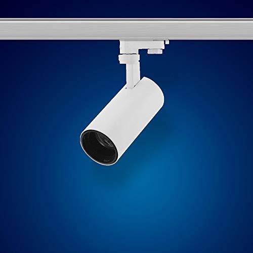 Mextronic 3 Phasen LED Strahler/LED 3 Phasen Schienensystem: LED 3 Phasen Strahler dimmbar 20W S27W Neutralweiss für Schienensystem