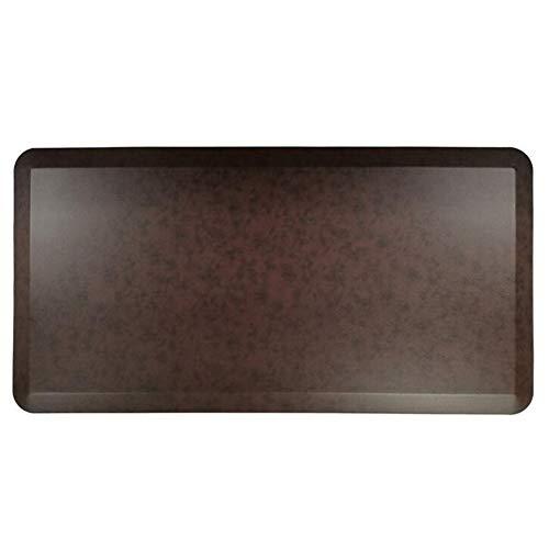 WJQQ Anti Ermüdungsmatte, Ergonomische Arbeitsplatzmatte für Gesundes und Schmerzfreies Stehen, rutschfeste und Langlebig Stehmatte aus Umweltfreundlichem PUDark brown-75 * 50 * 2cm
