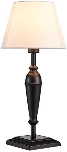 Lámpara de escritorio Lámpara de mesa con pantalla de tela, sue?o relajante, cuidado de los ojos con plomo, lectura inactiva, tenue por la noche, lámpara de mesa de detective, lámpara de mesa de hierr