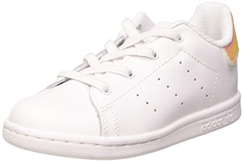 adidas Unisex-Kinder Stan Smith EL I Sneaker, FTWR White/FTWR White/Core Black, 25 EU