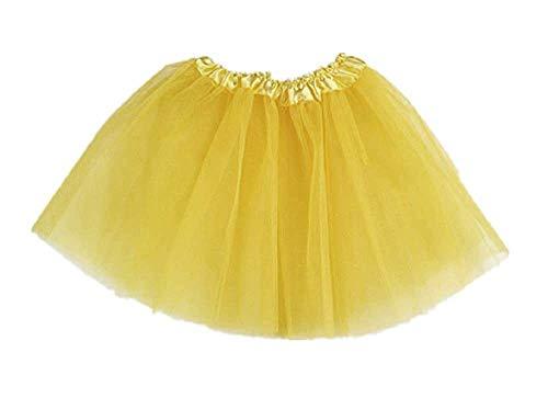 Gonna Tulle Bimba 3 strati 2-6 anni Danza Classica Bimba Carnevale giallo Idea Regalo Natale Compleanno Festa