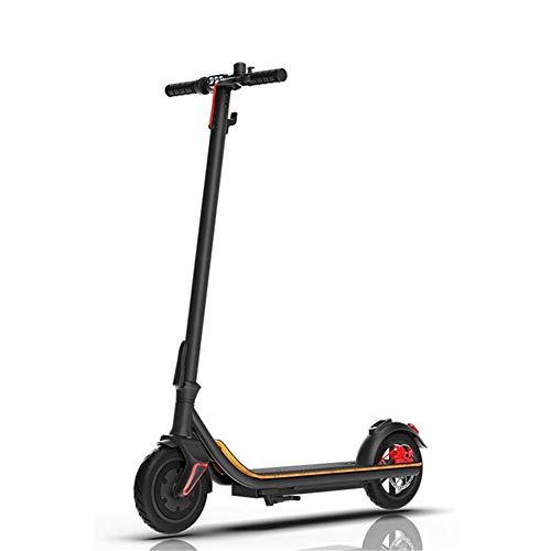 LKNJLL Scooter eléctrico - hasta 18mph, 8' de los neumáticos Delanteros, 350W sin escobillas Cubo del Motor, 21 Libras de Peso Ligero, antitraqueteo Plegable de Aluminio Scooter eléctrico for Adultos